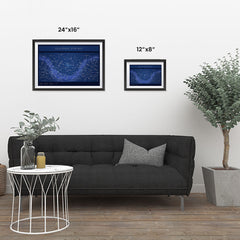 Ezposterprints - Equatorial Star Map - Blue Poster ambiance display photo sample