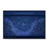 Ezposterprints - Equatorial Star Map - Blue Poster