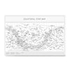 Ezposterprints - Equatorial Star Map - White Poster