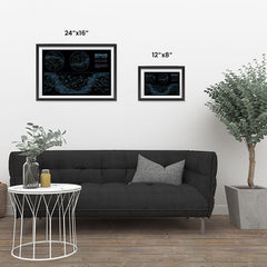 Ezposterprints - Detailed Sky Map Constellations With Star Names Poster ambiance display photo sample