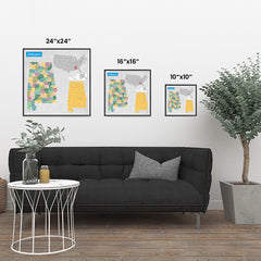 Ezposterprints - Alabama (AL) State - General Reference Map ambiance display photo sample