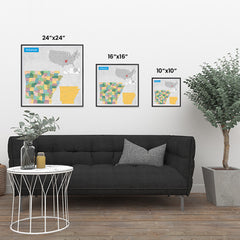Ezposterprints - Arkansas (AR) State - General Reference Map ambiance display photo sample