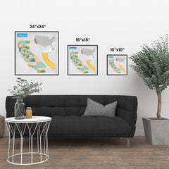 Ezposterprints - California (CA) State - General Reference Map ambiance display photo sample