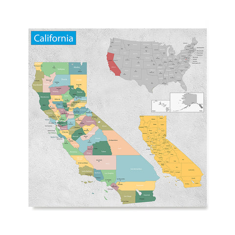 Ezposterprints - California (CA) State - General Reference Map