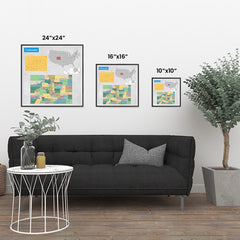 Ezposterprints - Colorado (CO) State - General Reference Map ambiance display photo sample