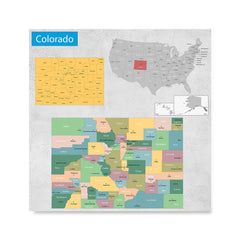 Ezposterprints - Colorado (CO) State - General Reference Map