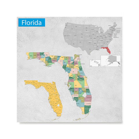 Ezposterprints - Florida (FL) State - General Reference Map