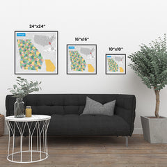 Ezposterprints - Georgia (GA) State - General Reference Map ambiance display photo sample