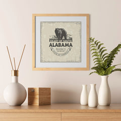 Ezposterprints - Alabama (AL) State Icon - 12x12 ambiance display photo sample