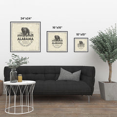 Ezposterprints - Alabama (AL) State Icon ambiance display photo sample