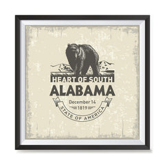 Ezposterprints - Alabama (AL) State Icon general ambiance photo sample