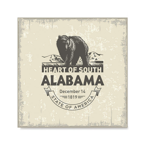 Ezposterprints - Alabama (AL) State Icon