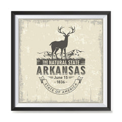 Ezposterprints - Arkansas (AR) State Icon general ambiance photo sample