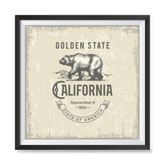 Ezposterprints - California (CA) State Icon general ambiance photo sample