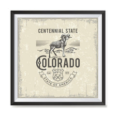 Ezposterprints - Colorado (CO) State Icon general ambiance photo sample