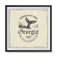 Ezposterprints - Georgia (GA) State Icon general ambiance photo sample