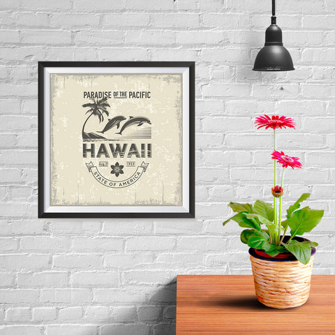 Ezposterprints - Hawaii (HI) State Icon - 10x10 ambiance display photo sample