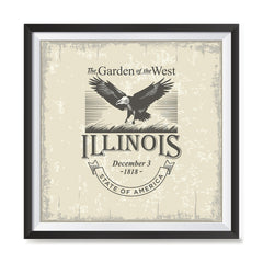 Ezposterprints - Illinois (IL) State Icon general ambiance photo sample