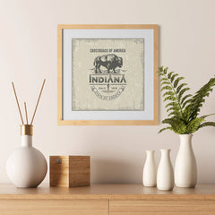 Ezposterprints - Indiana (IN) State Icon - 12x12 ambiance display photo sample