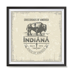 Ezposterprints - Indiana (IN) State Icon general ambiance photo sample