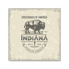 Ezposterprints - Indiana (IN) State Icon
