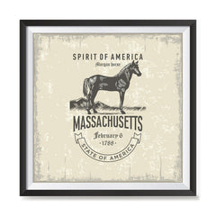 Ezposterprints - Massachusetts (MA) State Icon general ambiance photo sample