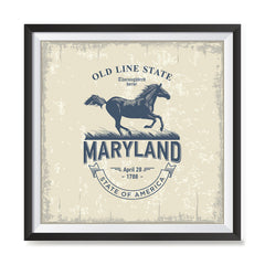 Ezposterprints - Maryland (MD) State Icon general ambiance photo sample