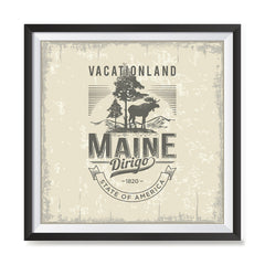 Ezposterprints - Maine (ME) State Icon general ambiance photo sample