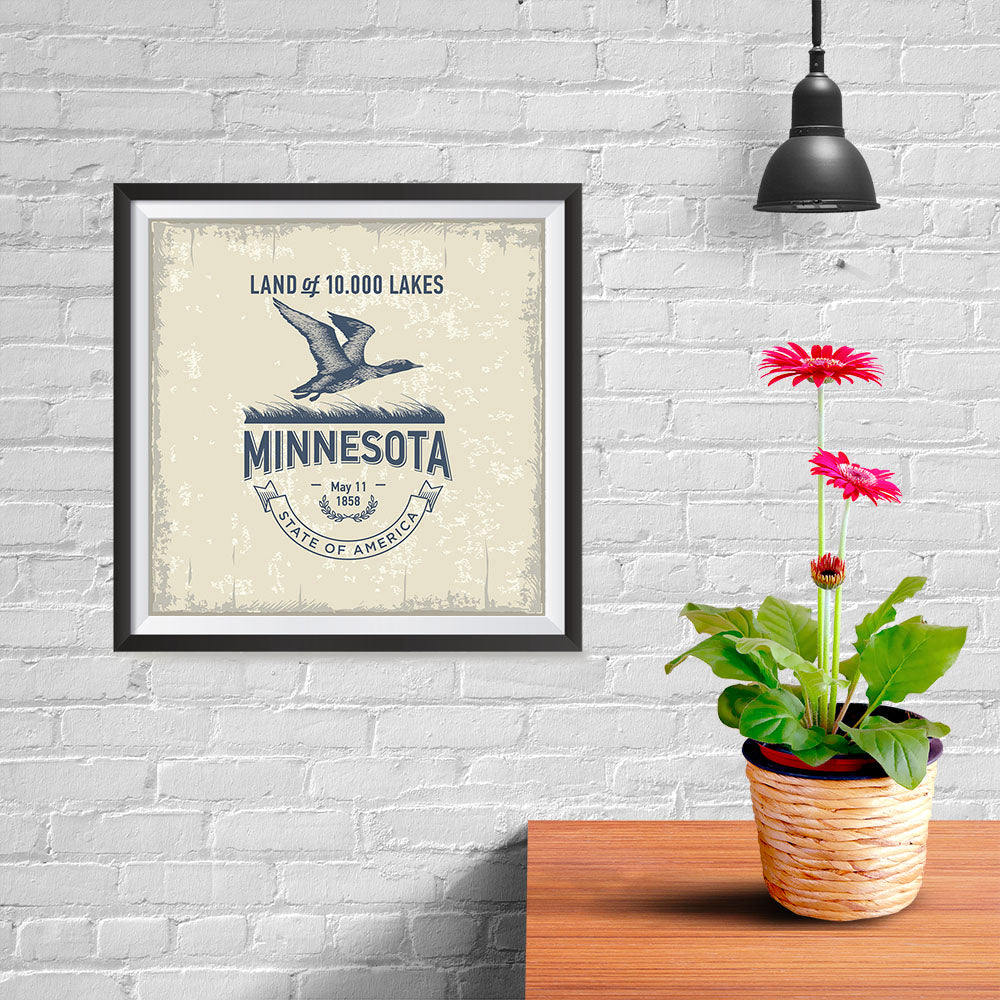 Ezposterprints - Minnesota (MN) State Icon - 10x10 ambiance display photo sample