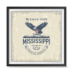 Ezposterprints - Mississippi (MS) State Icon general ambiance photo sample