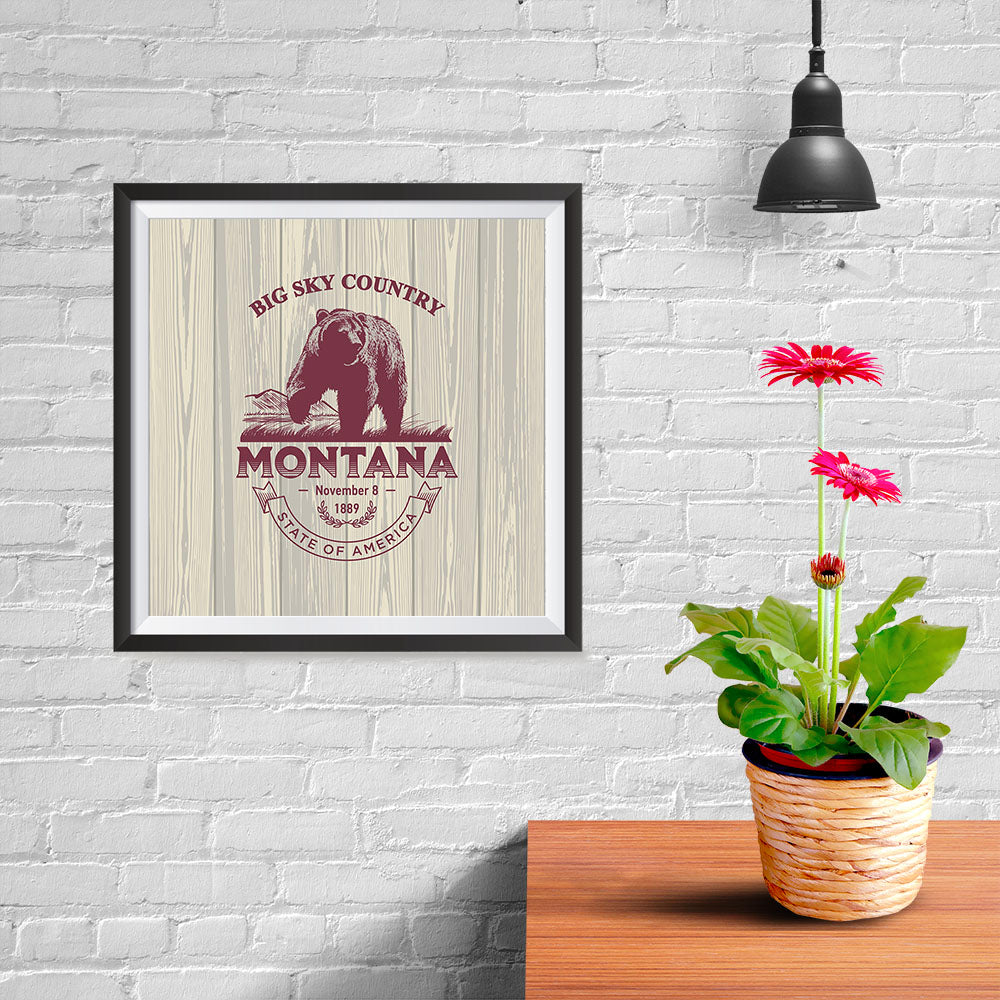 Ezposterprints - Montana (MT) State Icon - 10x10 ambiance display photo sample