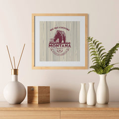 Ezposterprints - Montana (MT) State Icon - 12x12 ambiance display photo sample