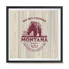 Ezposterprints - Montana (MT) State Icon general ambiance photo sample