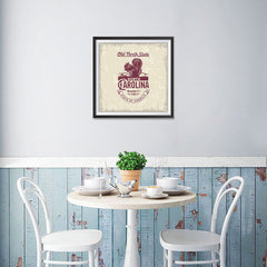 Ezposterprints - North Carolina (NC) State Icon - 16x16 ambiance display photo sample