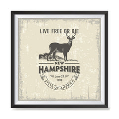 Ezposterprints - New Hampshire (NH) State Icon general ambiance photo sample