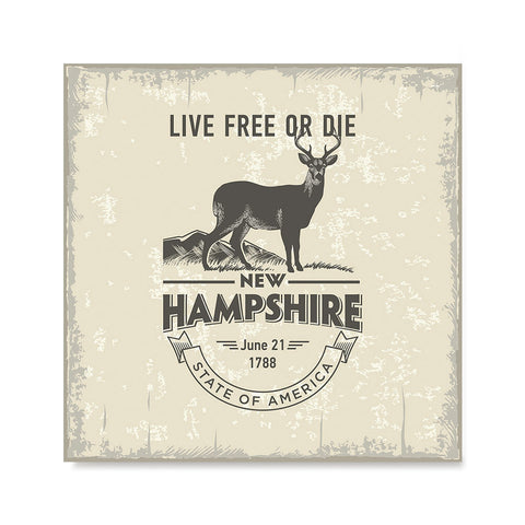 Ezposterprints - New Hampshire (NH) State Icon