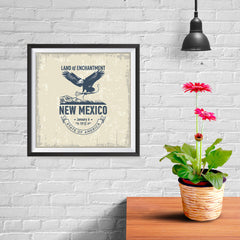 Ezposterprints - New Mexico (NM) State Icon - 10x10 ambiance display photo sample