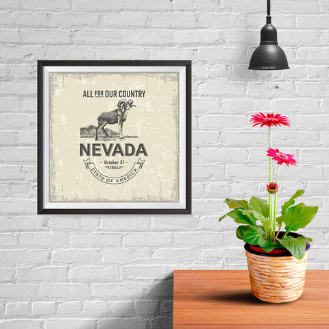 Ezposterprints - Nevada (NV) State Icon - 10x10 ambiance display photo sample