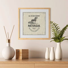 Ezposterprints - Nevada (NV) State Icon - 12x12 ambiance display photo sample