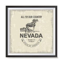 Ezposterprints - Nevada (NV) State Icon general ambiance photo sample
