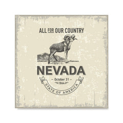 Ezposterprints - Nevada (NV) State Icon