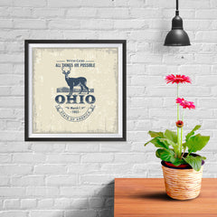 Ezposterprints - Ohio (OH) State Icon - 10x10 ambiance display photo sample