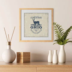 Ezposterprints - Ohio (OH) State Icon - 12x12 ambiance display photo sample