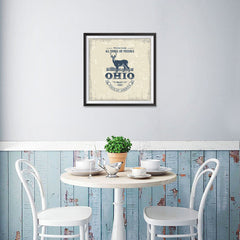 Ezposterprints - Ohio (OH) State Icon - 16x16 ambiance display photo sample