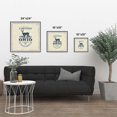 Ezposterprints - Ohio (OH) State Icon ambiance display photo sample