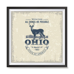 Ezposterprints - Ohio (OH) State Icon general ambiance photo sample