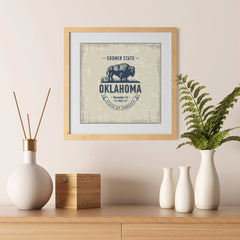 Ezposterprints - Oklahoma (OK) State Icon - 12x12 ambiance display photo sample
