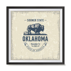 Ezposterprints - Oklahoma (OK) State Icon general ambiance photo sample