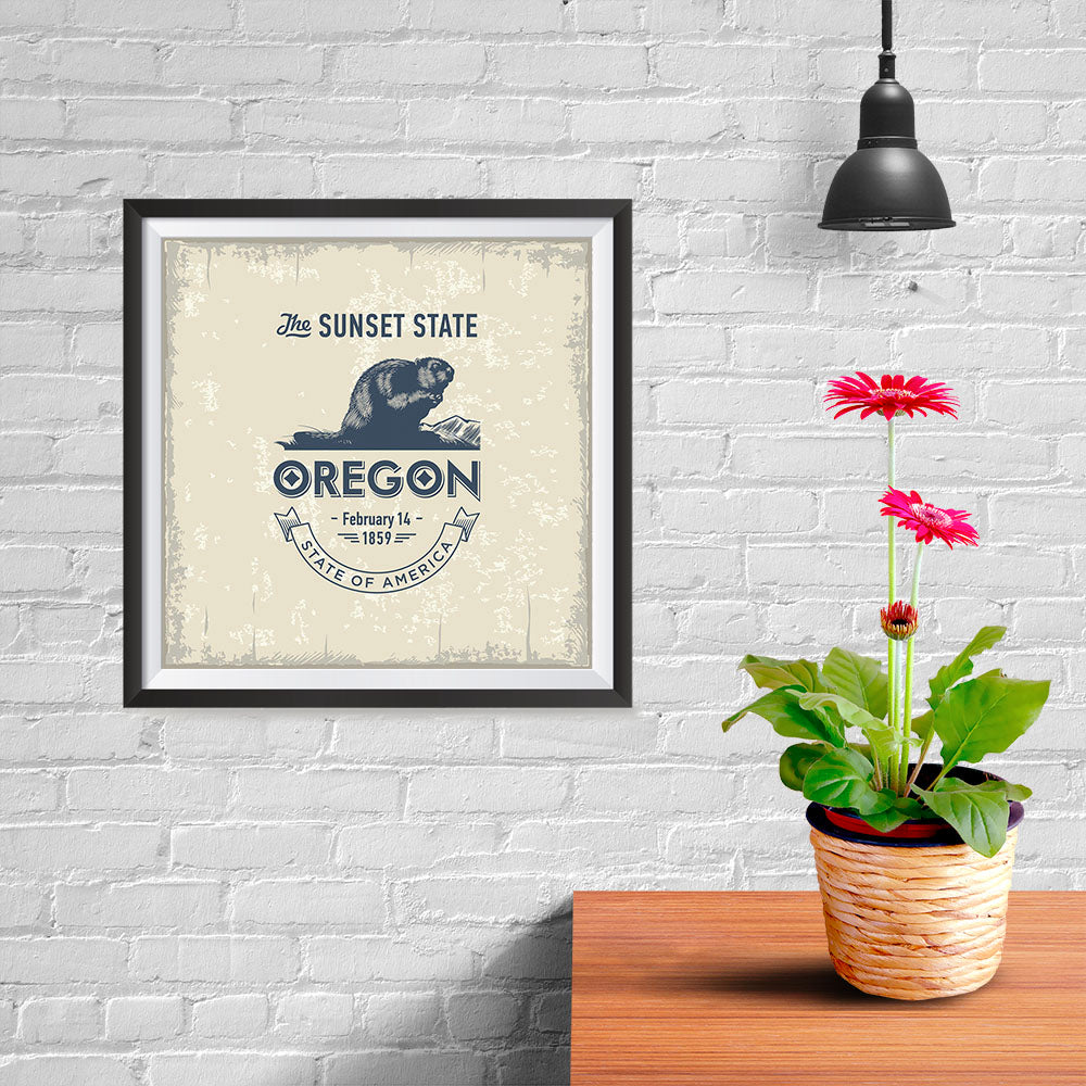 Ezposterprints - Oregon (OR) State Icon - 10x10 ambiance display photo sample