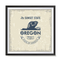 Ezposterprints - Oregon (OR) State Icon general ambiance photo sample